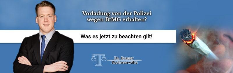 Vorladung von der Polizei wegen BtMG erhalten?