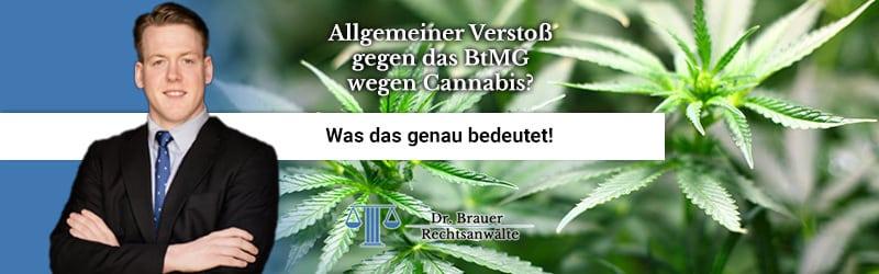 Was ist ein allgemeiner Verstoß gegen das BtMG mit Cannabis einschließlich Zubereitungen nach § 29?