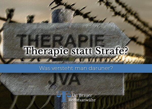 Therapie statt Strafe?