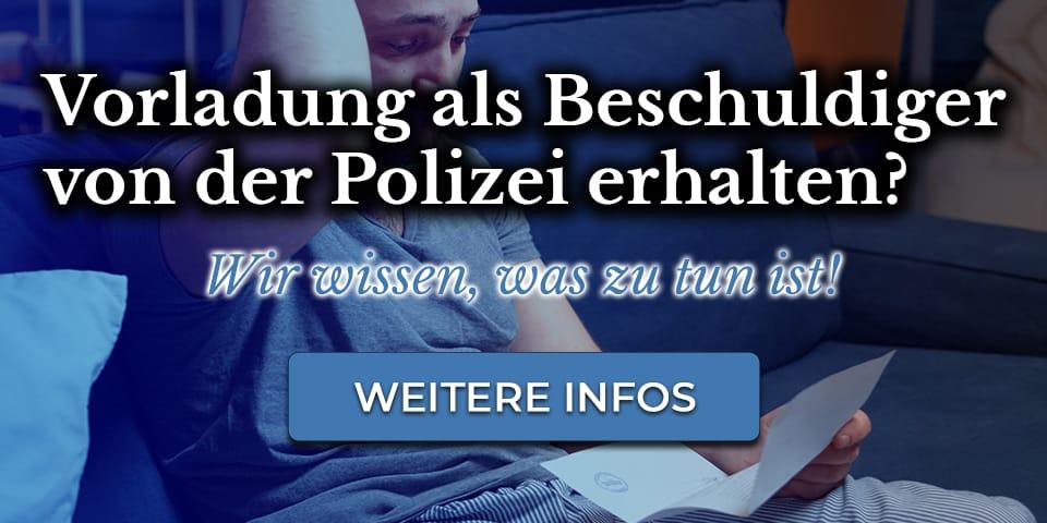 Rechtstipp - Vorladung von der Polizei wegen Straftat