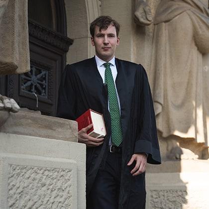 Rechtsanwalt Philipp Neumann vor Gericht